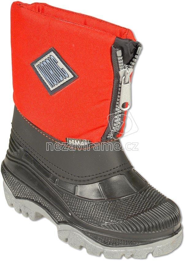 92fbceb75aa Dětské zimní boty Sněhule Nordic červená