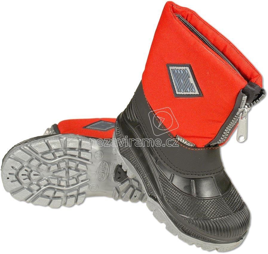 Detské zimné topánky Snehule Nordic červená ab226183423