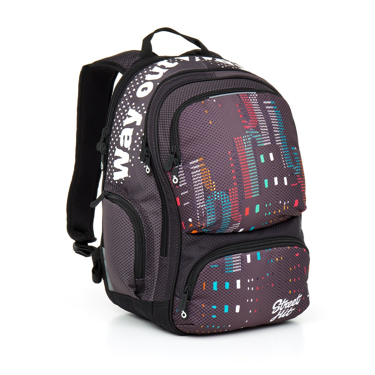 Studentský batoh Topgal HIT 865 C - Grey  1242f70af6