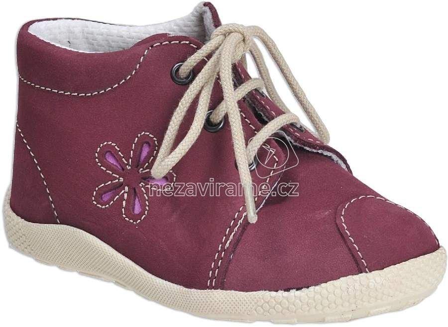 Detské capáčky Veleta 7272 027 fialová/kvetina