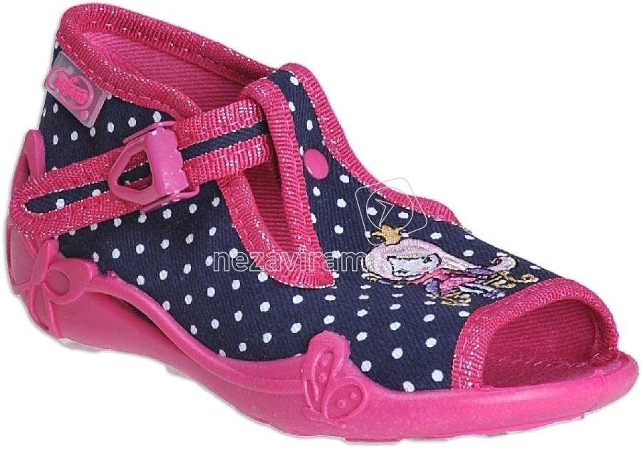 a27404ea971 Dětská domácí obuv Befado 213 P 096