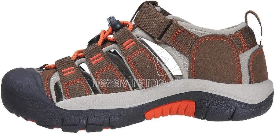 dbc236dda69f5 Dětské letní boty Keen Newport dark earth spicy orange