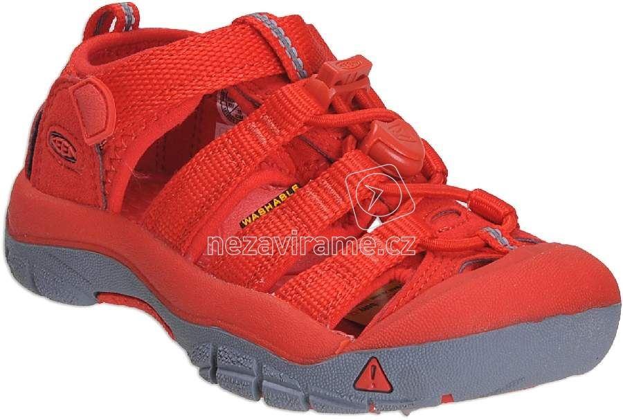 9b505df0a9c Dětské letní boty Keen Newport firey red