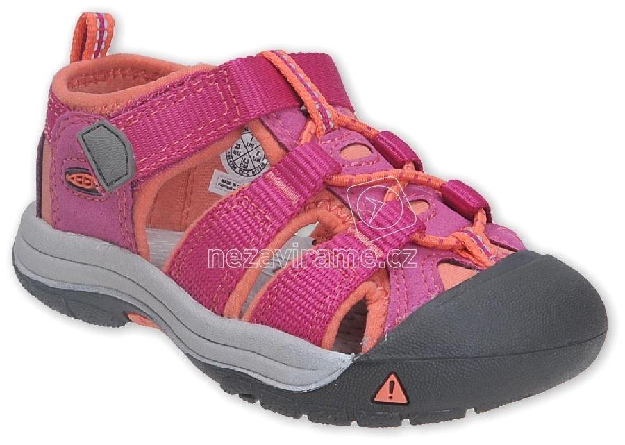Dětské letní boty Keen Newport very berry fusion coral 91e21169cb