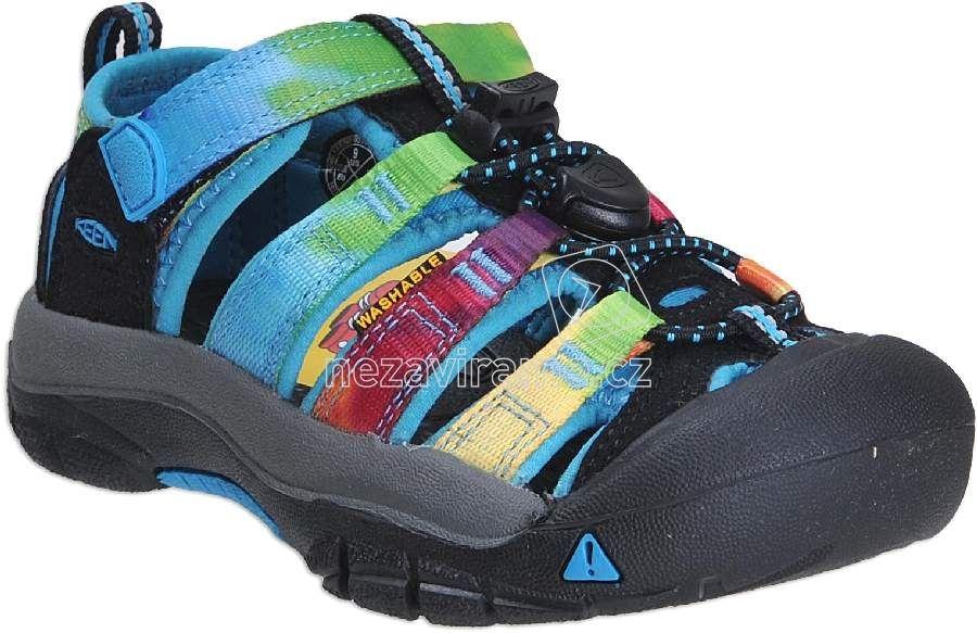 Detské letné topánky Keen Newport raibow tie dye