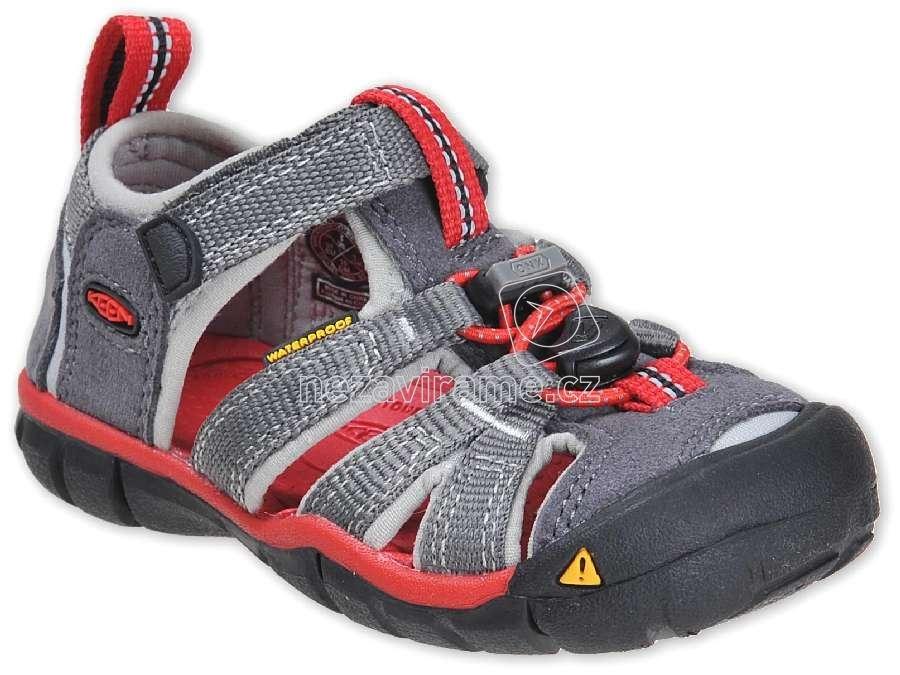Detské letné topánky Keen Seacamp magnet/racing red