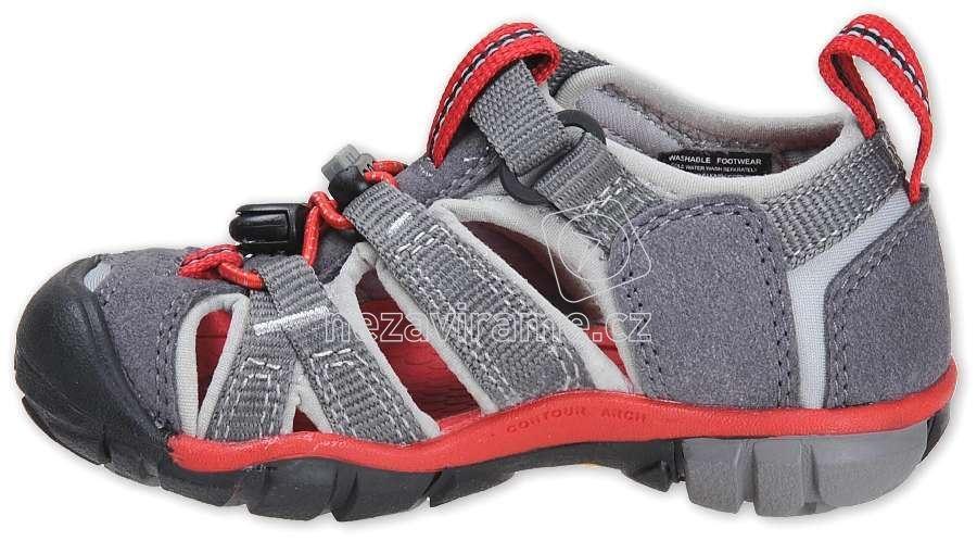 Dětské letní boty Keen Seacamp magnet racing red  e73d4df77a