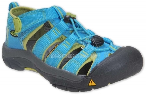 Dětské letní boty Keen Newport hawaiian blue green glow 71fe21a2c4