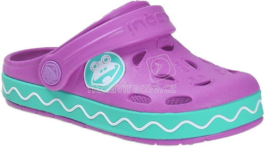 Dětské plážovky Coqui 8801 purple mint 919aec0ebf