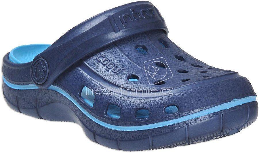 Dětské plážovky Coqui 6363 navy new blue 723d8c4e38