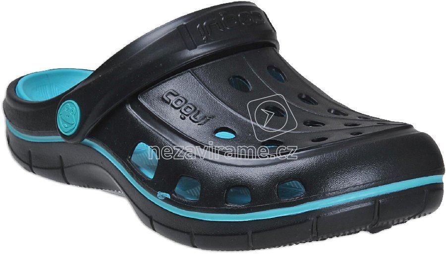 Strandpapucs Coqui 6352 black/turqouise