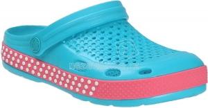 Detské plážovky Coqui 6415 turquoise/new rouge