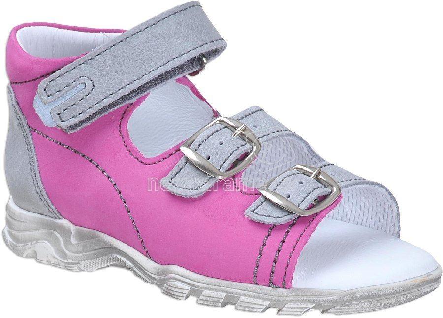 Detské letné topánky Boots4u T-213 rose-šedá