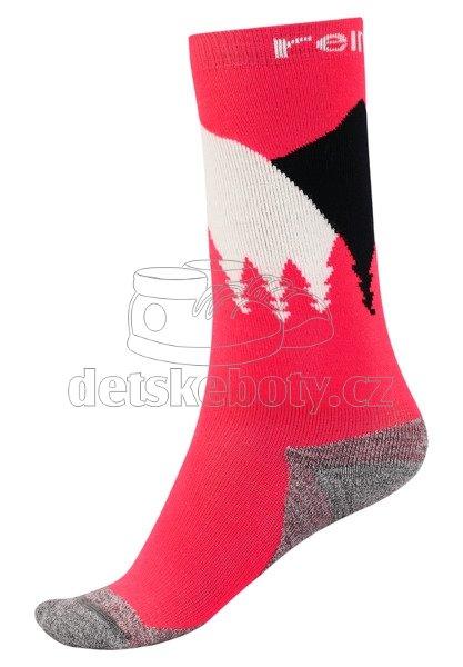 Dětské podkolenky Reima Ski Day 527313 strawberry red