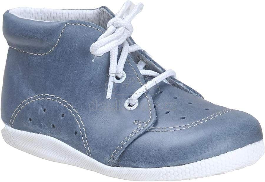 Babacipő BOOTS4U T014 kék twister