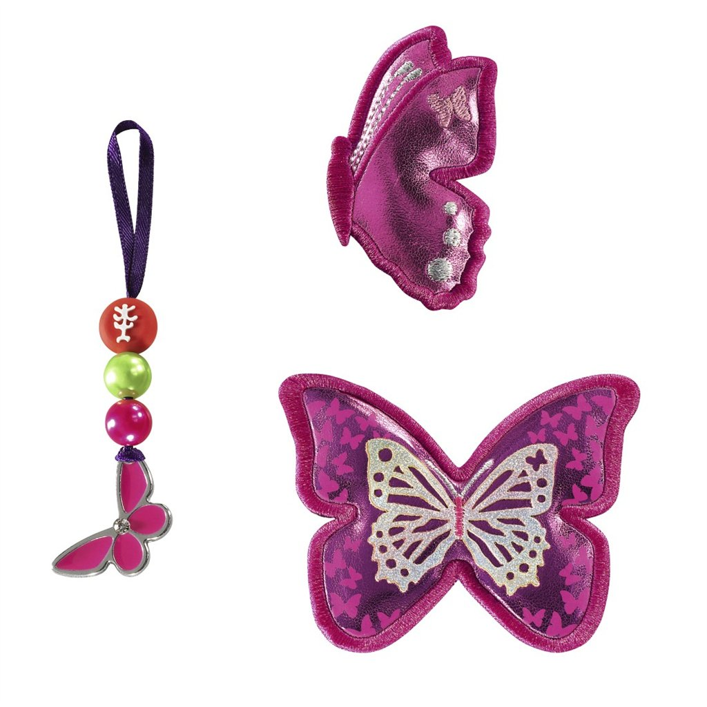 Doplňková sada obrázků MAGIC MAGS k aktovkám Space, Třpytivý motýl