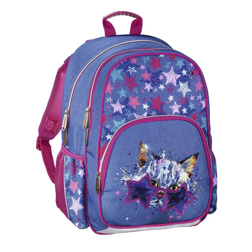 HAMA Školní batoh pro prvňáčky, Discokočka
