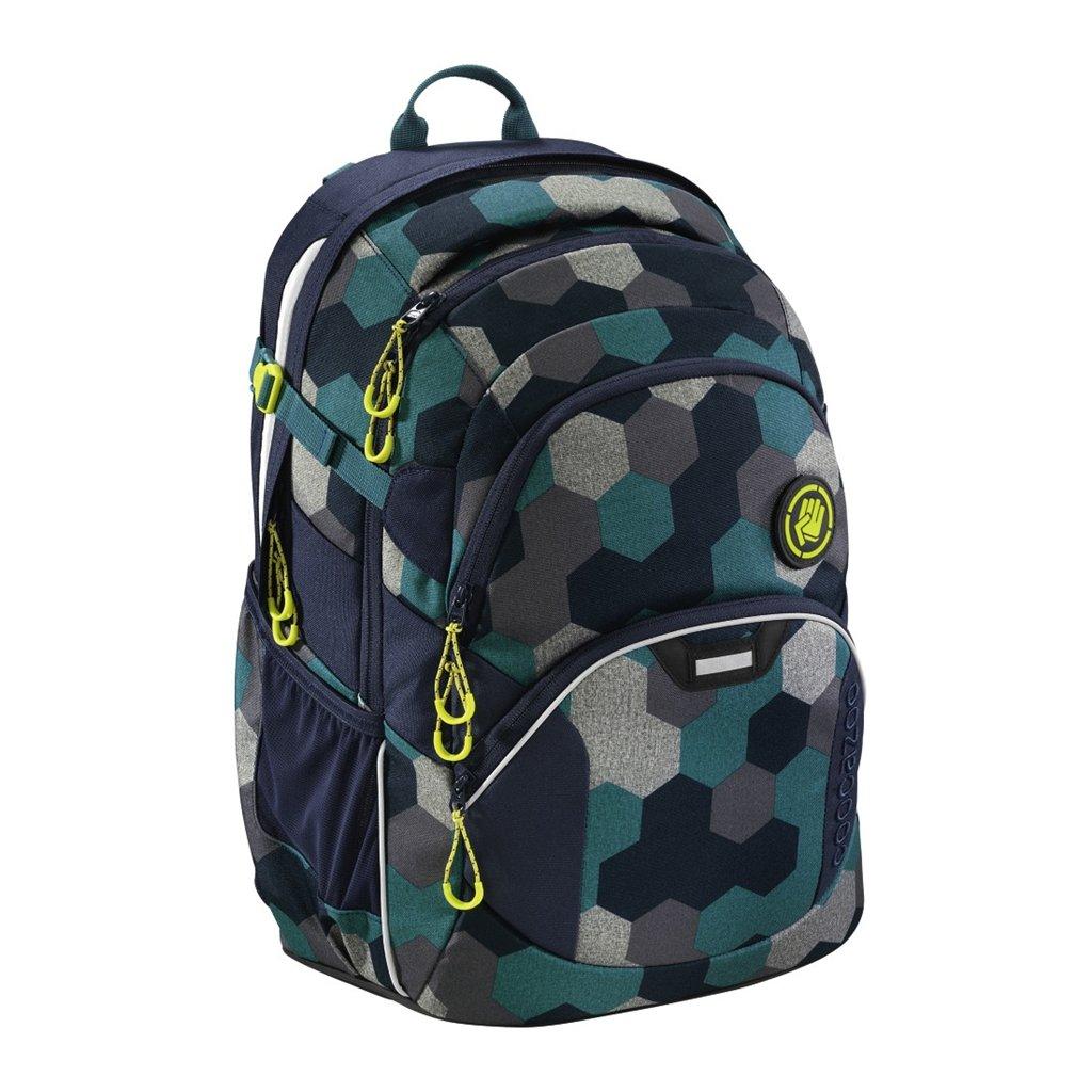 Školní batoh Coocazoo JobJobber2, Blue Geometr
