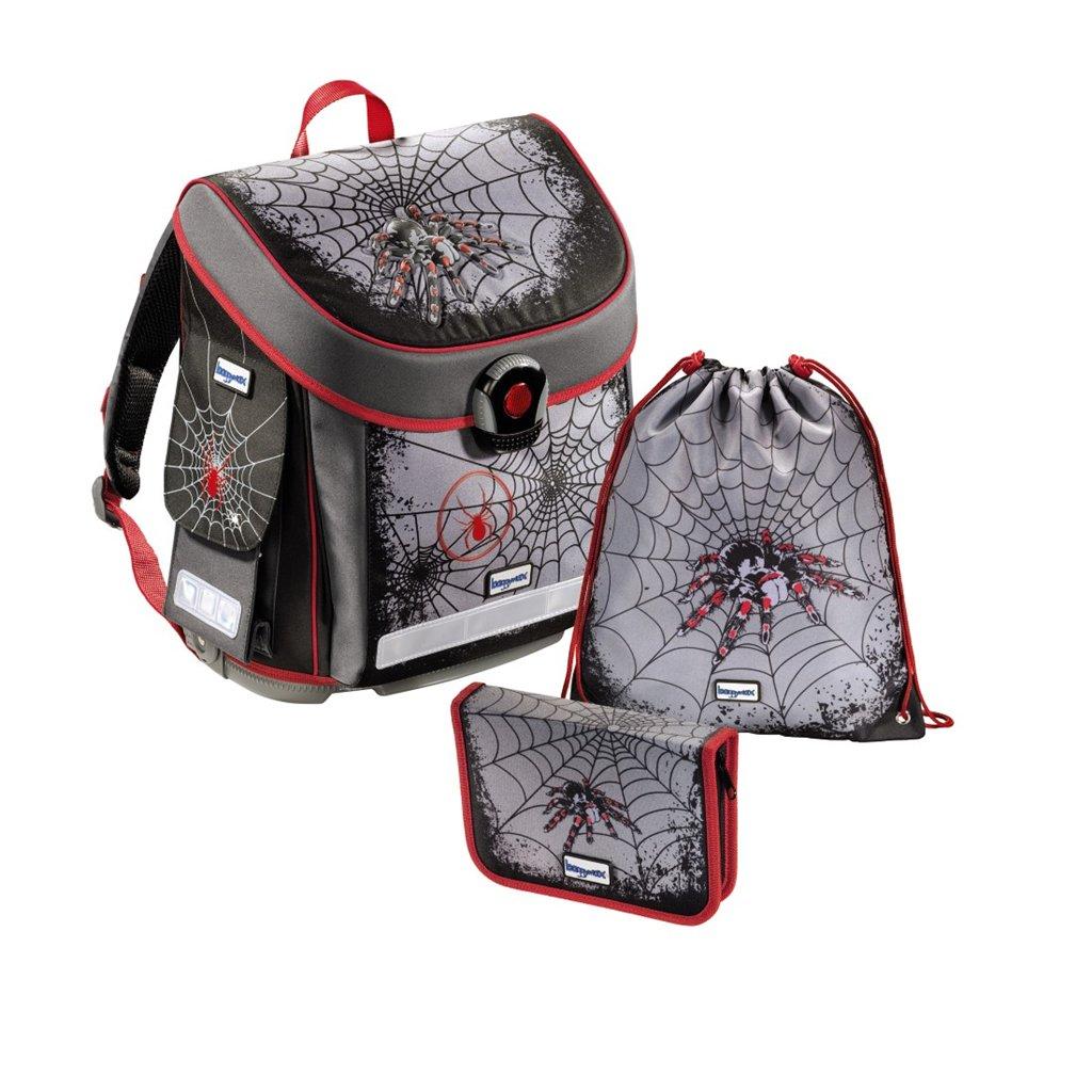 školní aktovka - 3 dílný set Baggymax CANNY Pavouk