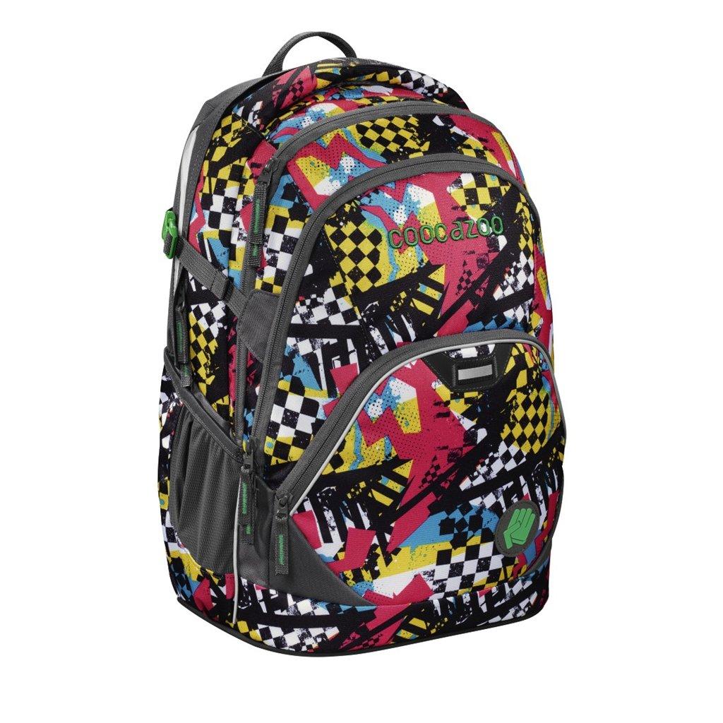 Školní batoh Coocazoo EvverClevver2, Checkered Bolts, certifikát AGR