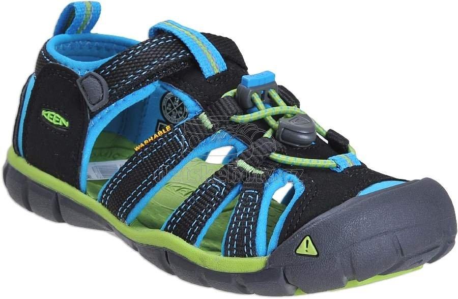 Dětské letní boty Keen Seacamp black/blue danube