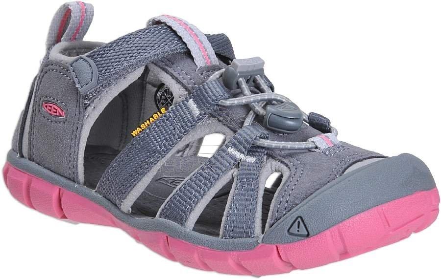 Dětské letní boty Keen Seacamp steel grey/rapture rose