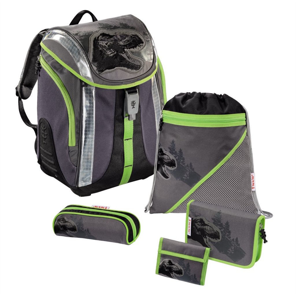 Školní batoh - 5-dílný set, Flexline Dino, certifikát AGR