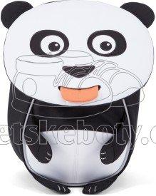 Batůžek pro nejmenší Affenzahn Peer Panda small - white/black