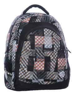 Studentský batoh DIGITAL 0215 C BLACK/BROWN/WHITE