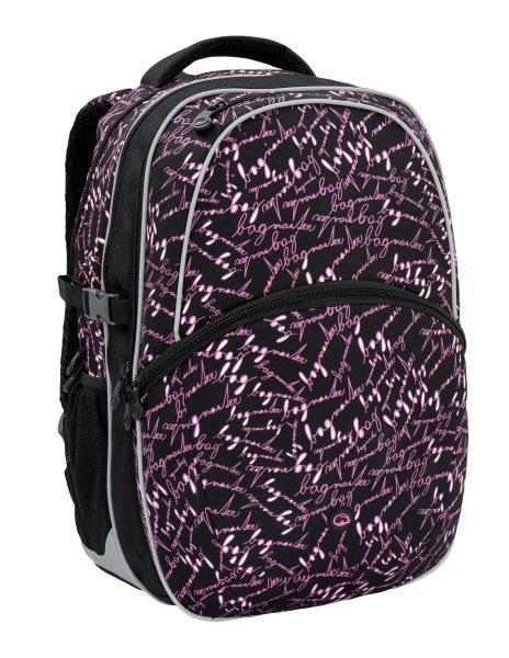 Dívčí školní batoh Bagmaster MADISON 6 A BLACK/PINK