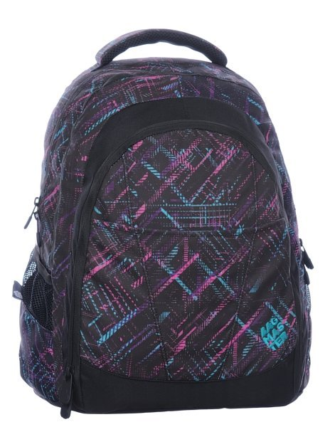 Studentský batoh DIGITAL 0115 B BLACK/VIOLET/BLUE