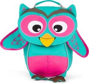Batůžek pro nejmenší Affenzahn Olivia Owl small - turquoise
