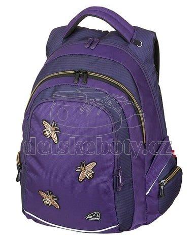Diák hátizsák FAME Bee Violet B-42029-074