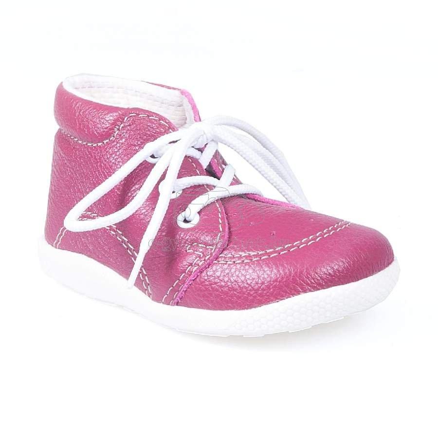 Babacipő BOOTS4U T014 sötét rózsaszín
