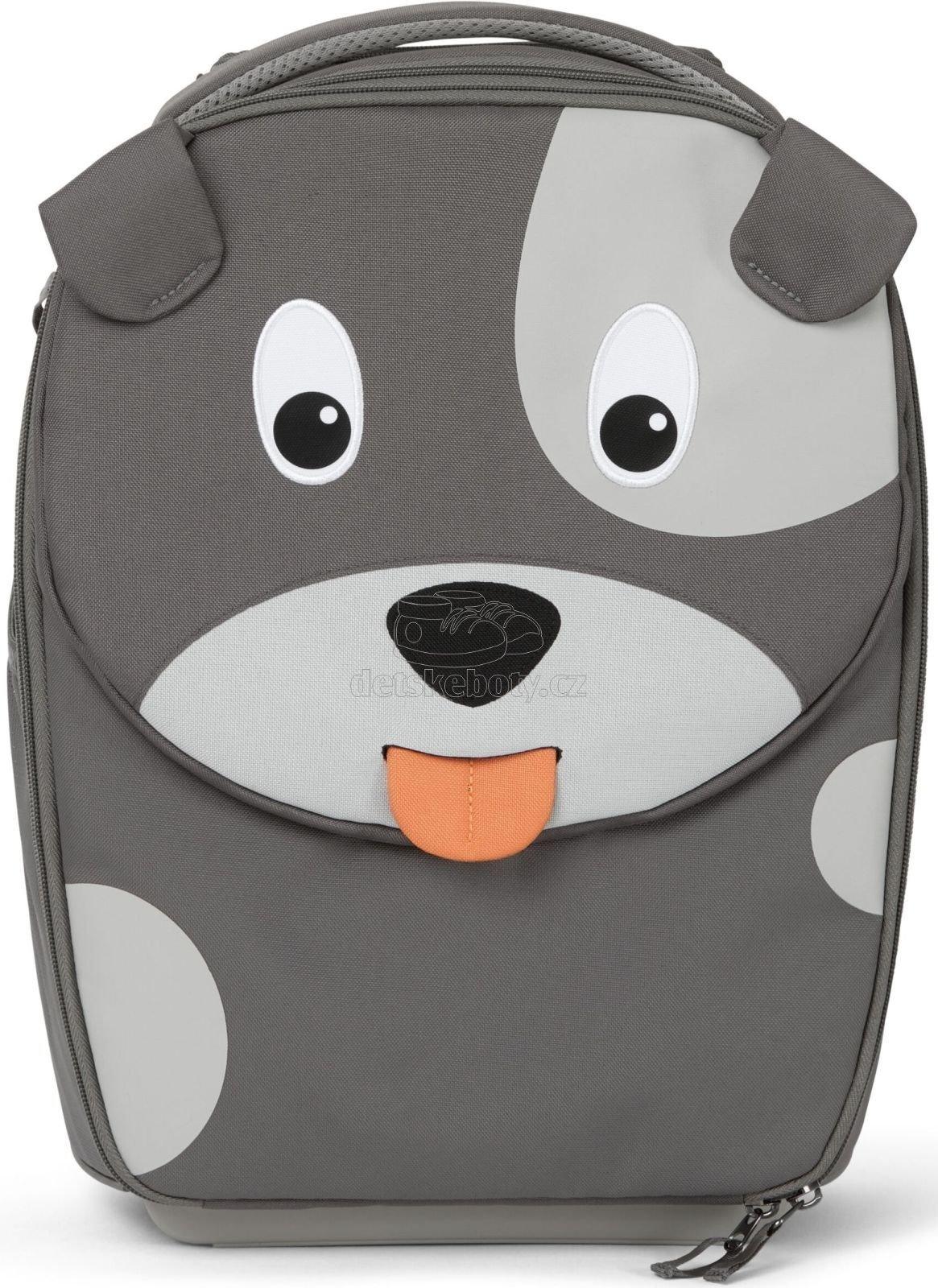 Dětský cestovní kufřík Affenzahn Suitcase David Dog - grey