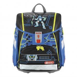 Školní aktovka - 4-dílný set, Step by Step Flash blikačka Robot, certifikát AGR