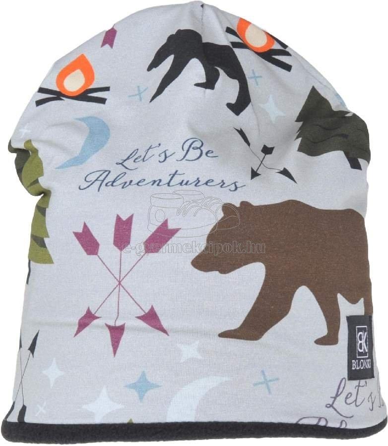 Téli gyerek sapka Blonki medvés