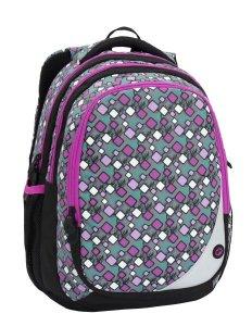 Dívčí školní batoh Bagmaster MAXVELL 6 A GREY/PINK/BLUE