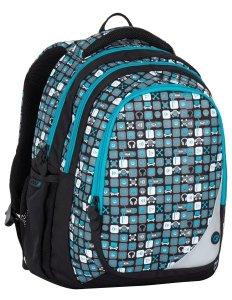 Školní batohy Bagmaster MAXVELL 7 B BLUE/GREY/BLACK