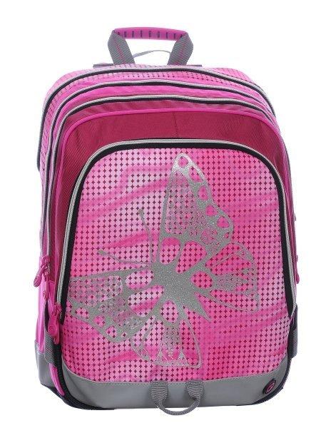 Školní dívčí batoh pro prvňáčky S1A 0115 A PINK Motýl