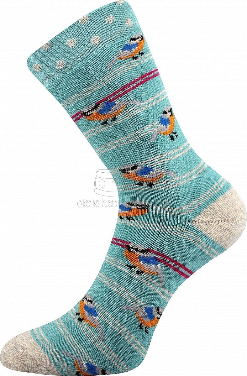 Detské ponožky VoXX Sibiř vtáčiky