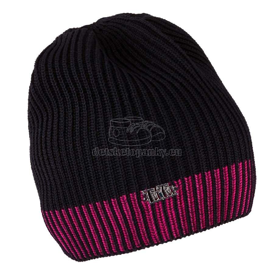 Detská jarná čiapka TUTU 3-003505 black