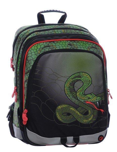 S1A 0115 C školní batoh GREEN/RED/BLACK SNAKE