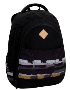 Klučičí studentský batoh Bagmaster DIGITAL 6 D BLACK/BROWN/GREY