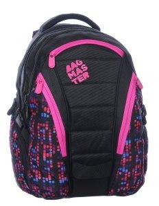 Studentské batohy BAG 0115 B BLACK/PINK