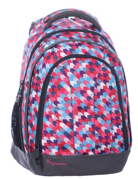 Dívčí studentský batoh LILY 0115 B PINK/VIOLET/BLUE/WHITE Bagmaster
