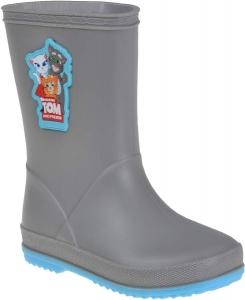 Detské gumáky Coqui 8505 mid.grey/new blue