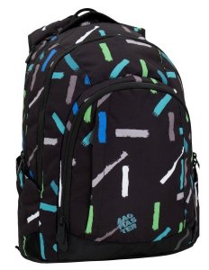 Studentský batoh Bagmaster LINCOLN 6 A BLACK/BLULE/GREY/GREEN