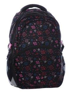 Dívčí školní batoh  MADISON 0115 A BLACK/PINK