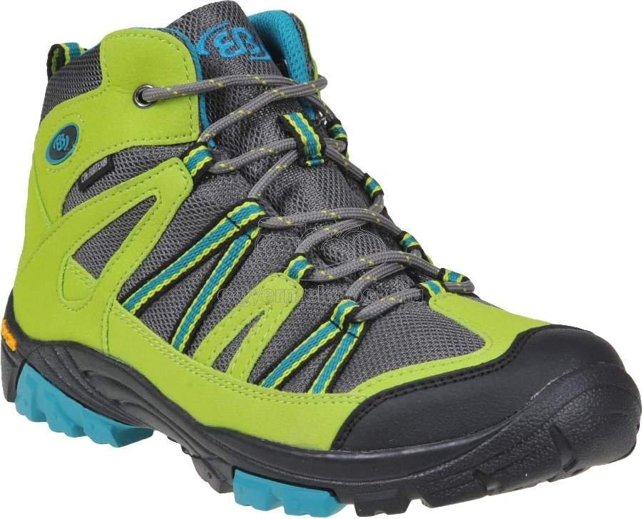 Trekking cipő Brütting 231078 lemon/grau/blau